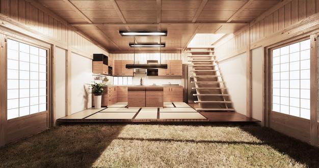Kitchen room japanese style Premium Photo