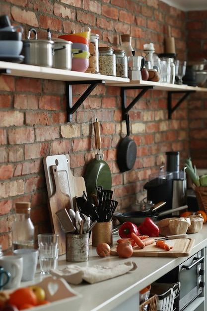 Кухня с ингредиентами и инструментами Бесплатные Фотографии