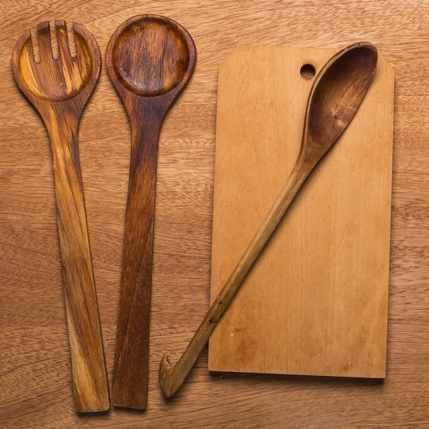 Cucina. utensile di legno Foto Gratuite