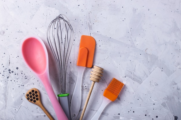 Kitchenware and tools for the professional pastry chef Premium Photo