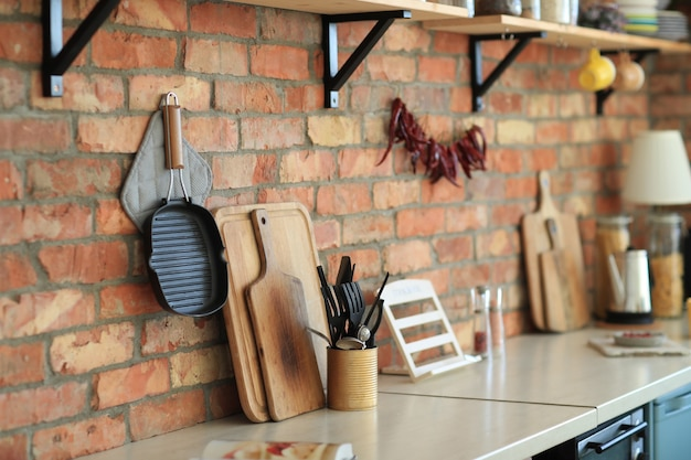 Kitchenware on the wall Free Photo