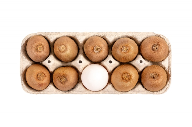 Киви и куриное яйцо, диетическое питание Premium Фотографии