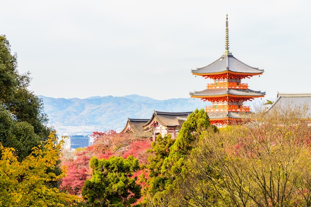 Kiyomizu dera temple in kyoto at japan Free Photo