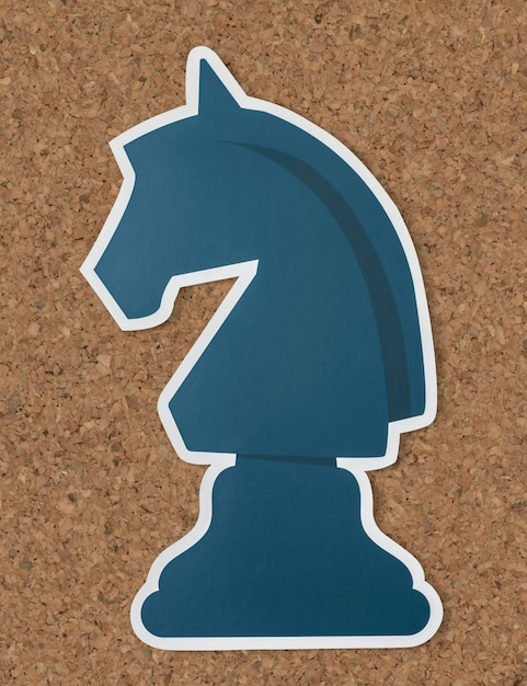 The knight chess strategy icon Free Photo