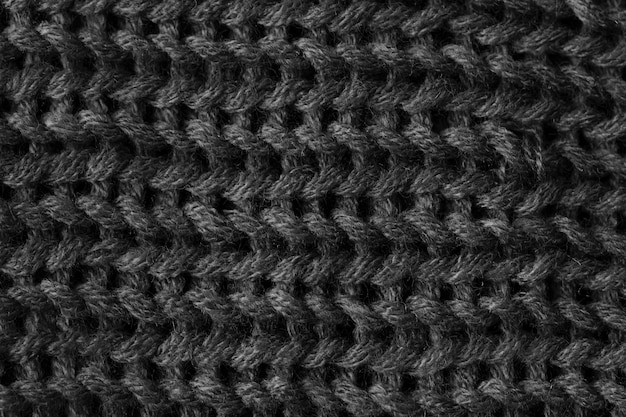 Knitted fabric pattern background Free Photo