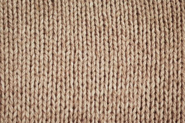 Knitted fabric wool texture close up Premium Photo
