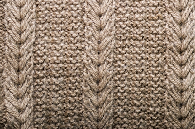 Knitted texture. pattern fabric made of wool. | Premium Photo
