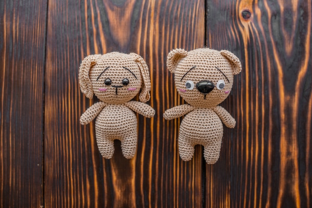 Knitted  toys Premium Photo