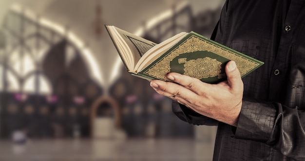Koran , holy book of muslims Premium Photo