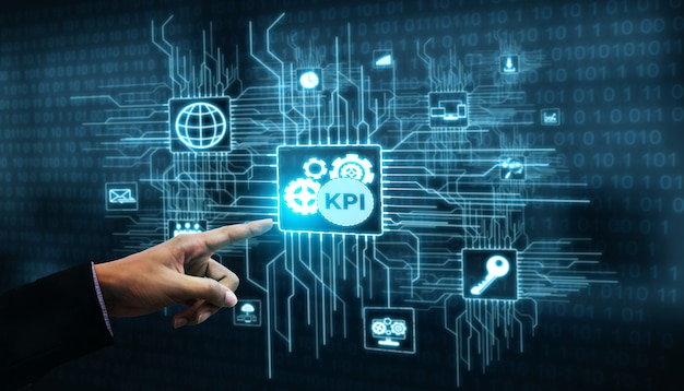 ビジネスコンセプトのkpi主要業績評価指標 Premium写真
