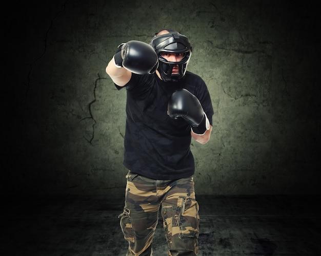 Krav maga fighter Premium Photo