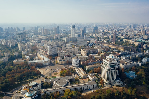 Kyiv capital city of ukraine. aerial view. Free Photo