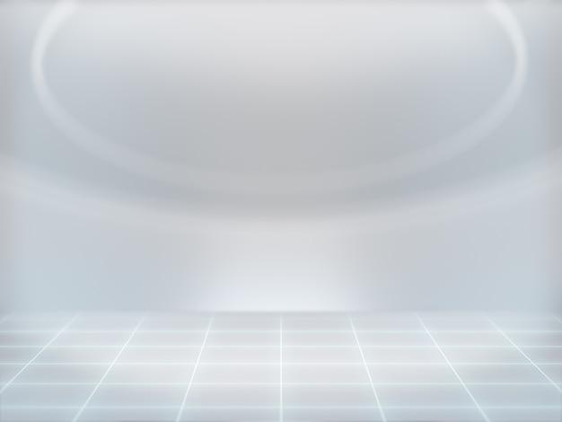 ディスプレイ用台座、デザイン用プラットフォーム、背景のlab.3dレンダリングを備えた空白の製品スタンド。 Premium写真