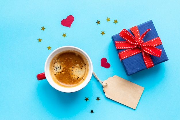 Labeled coffee and gifts Free Photo