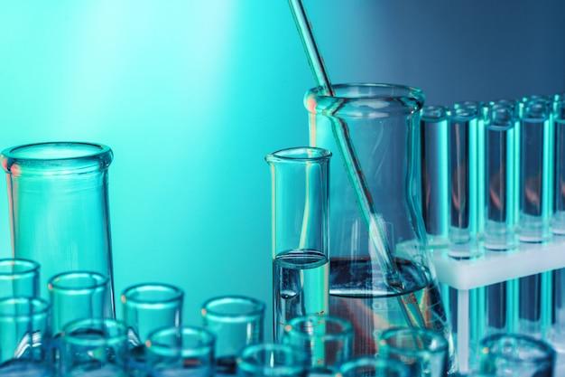 Laboratory chemistry glassware Premium Photo