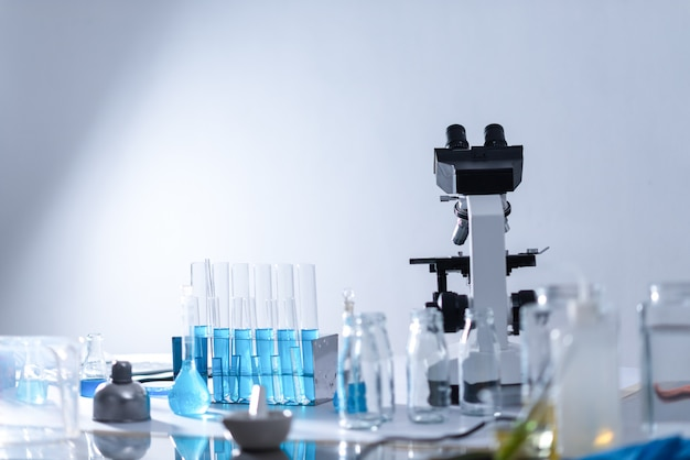Laboratory equipment, laboratory glassware for chemical laboratories Premium Photo