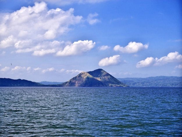 The lake close taal volcano, philippines Premium Photo