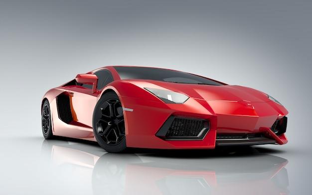 Красный спортивный автомобиль lamborghini Premium Фотографии