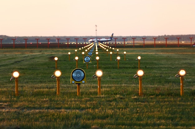 Landing lights Free Photo