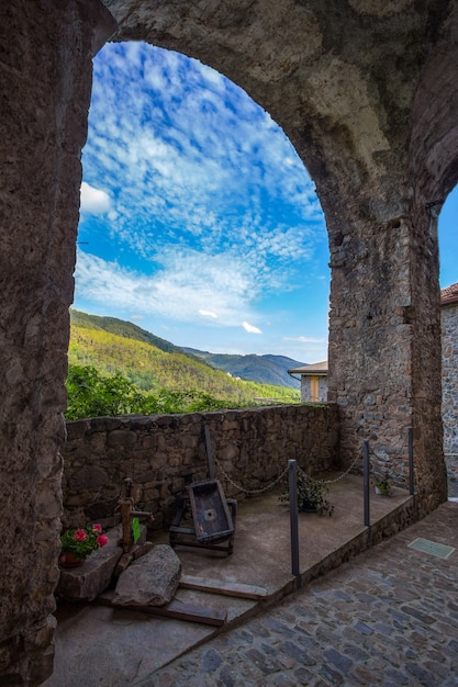 Landscape of ancient medieval village in italy Premium Photo