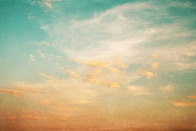 Blue Sky White Clouds Painting