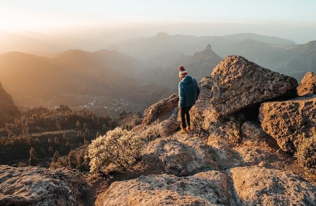 美しい山々の風景 無料写真