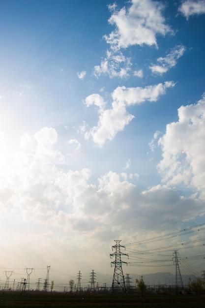 Пейзаж с легкими башнями Бесплатные Фотографии