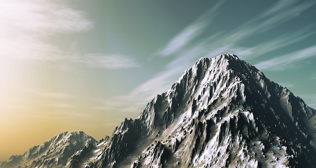 Landscape with mountains Free Photo