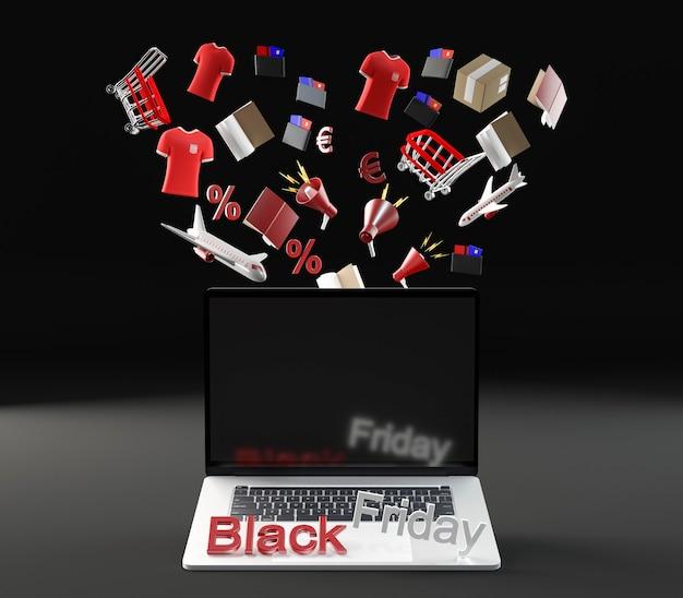 Computer portatile per l'evento del venerdì nero Foto Gratuite