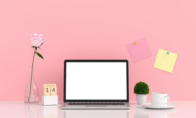 Laptop display for mockup Premium Photo