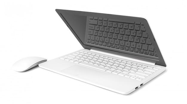 Laptop isolated on white Premium Photo