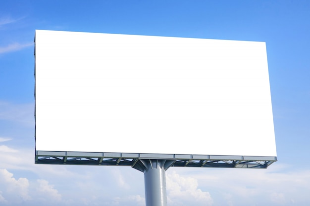 Large blank billboard with empty screen for advertising poster. Premium Photo