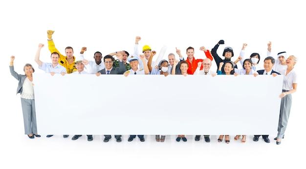 Large corporate business presentation Premium Photo
