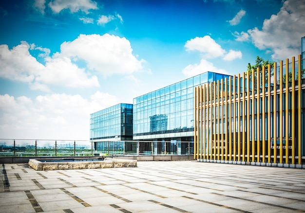 Large modern office building Free Photo