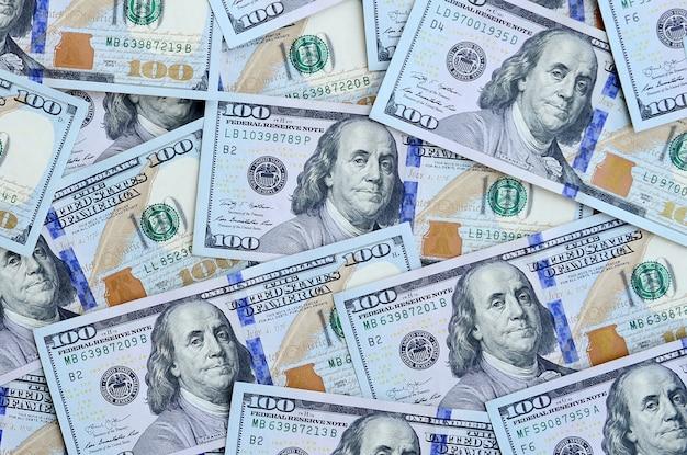 A large number of us dollar bills Premium Photo