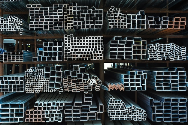 Large steel factory warehouse Free Photo