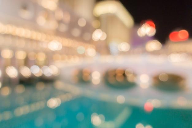 Las vegas blurred background night Premium Photo
