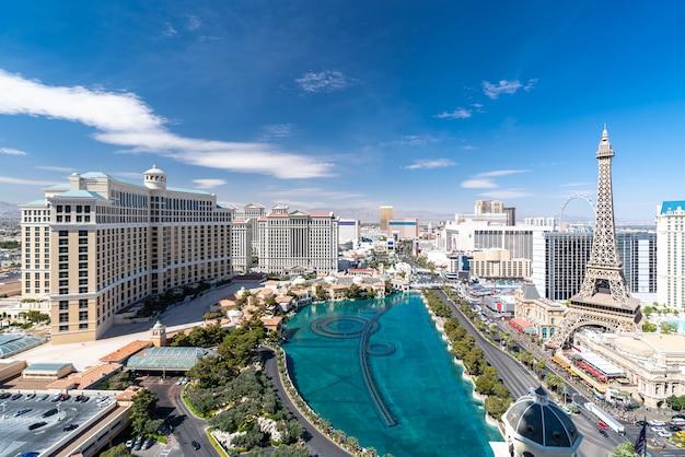 Las vegas strip aerial view Premium Photo