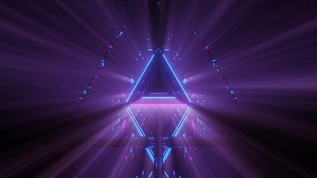 Spettacolo laser di linee luminose di luci al neon con uno sfondo nero Foto Gratuite