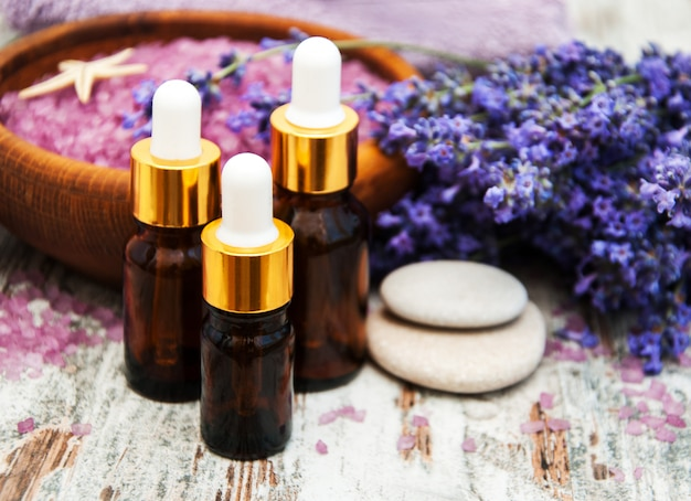 Lavender spa products Premium Photo