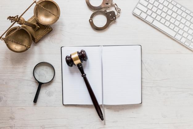 Lawyer desk Free Photo