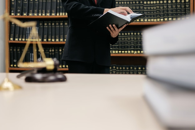 Lawyer justice and law concept. Premium Photo