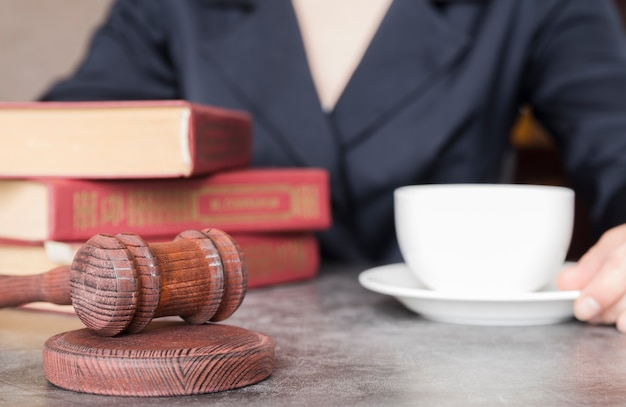 Lawyer working close up Free Photo
