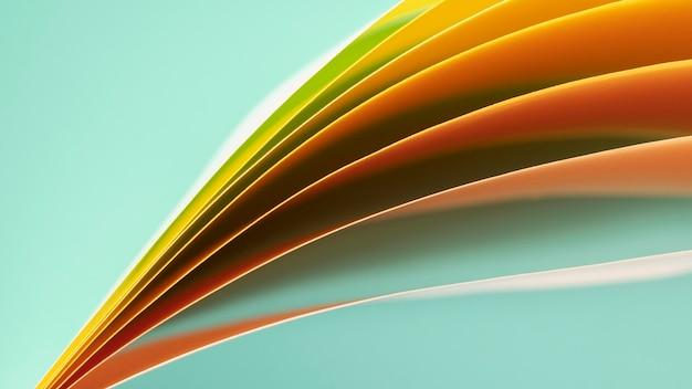 オレンジ色の紙の層 無料写真