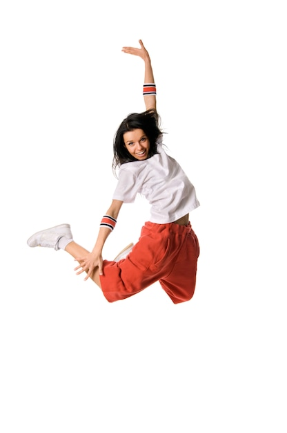 Leaping breakdancer Free Photo