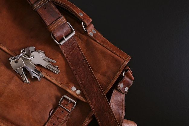 A leather briefcase Free Photo