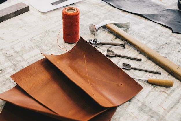 Leather crafting tools Free Photo
