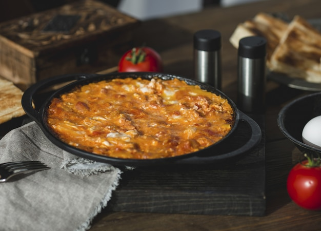 Lebanon and indian kitchen,  curry with chicken fillet Free Photo