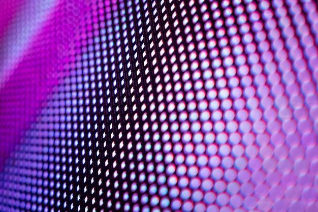 クローズアップledぼやけた画面。 ledソフトフォーカスの背景。 Premium写真