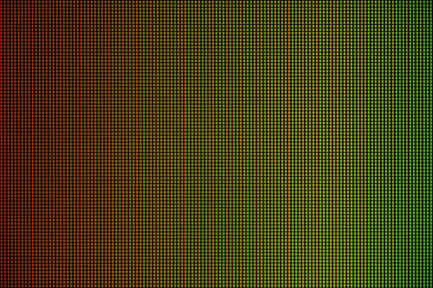 Led lights from computer led monitor screen display panel. Premium Photo